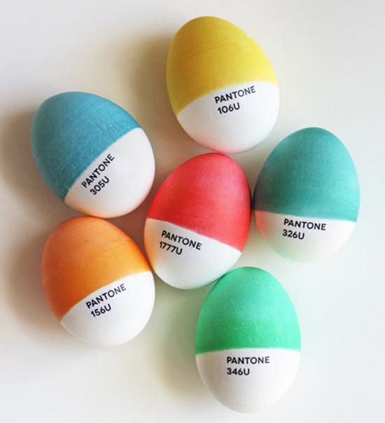DIY ovos de páscoa Pantone