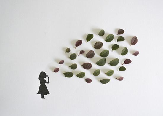 Colagens e ilustrações do artista Tang Ling Chiew
