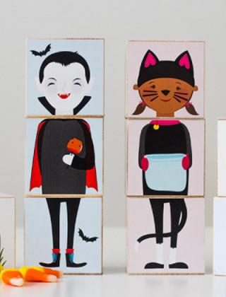 Bloquinhos de Halloween para imprimir, montar e jogar