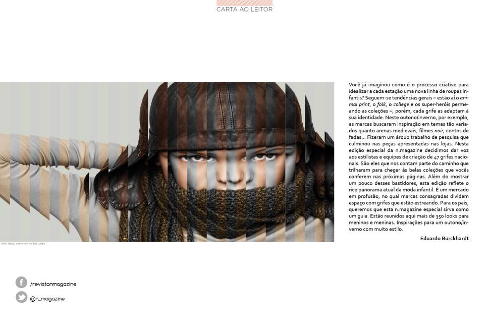 Revista n.magazine Outono/Inverno 2012 :: Carta ao Leitor
