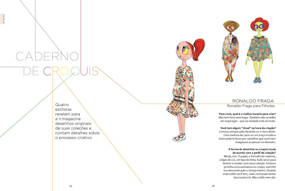 Revista n.magazine Primavera/Verão 2012.13 :: Caderno de croquis